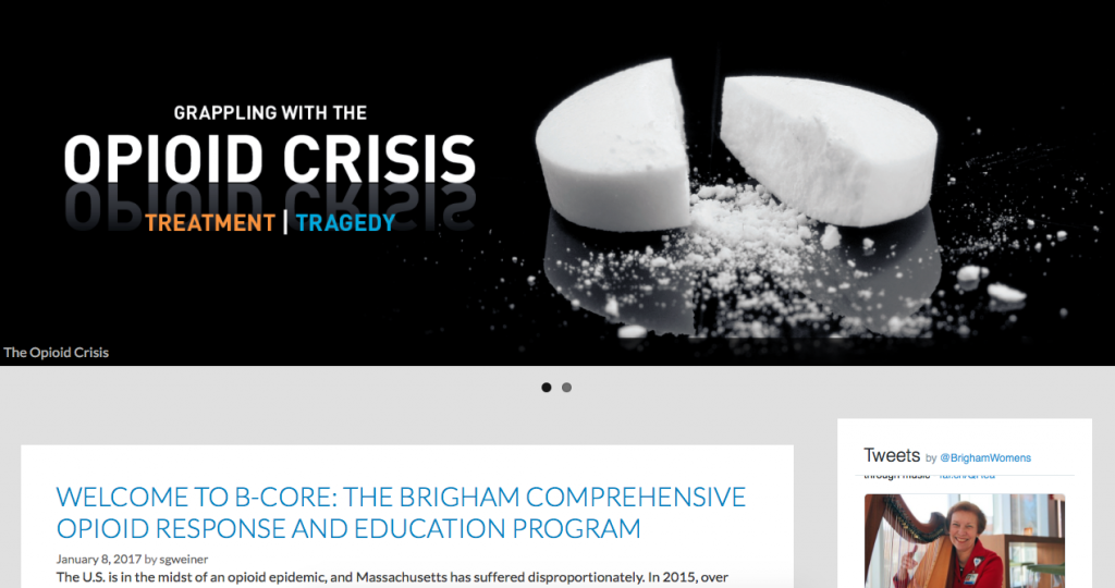 B-CORE: The Brigham Comprehensive Opioid Response and Education Program